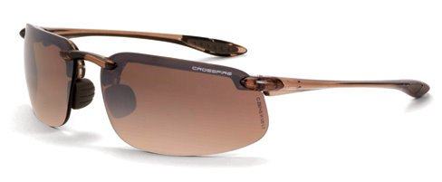 12 Pack Crossfire 211125 ES4 Safety Glasses HD Brown Flash Mirror Lens - Crystal Brown Frame by Crossfire