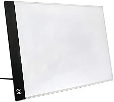 SODIAL Tablero De Dibujo con Luz LED Tableta Tabla De Dibujo Ultra A4 Almohadilla De Luz Cuaderno De Bocetos Lienzo En Blanco para Pintar Pintura De Acuarela Acrílica