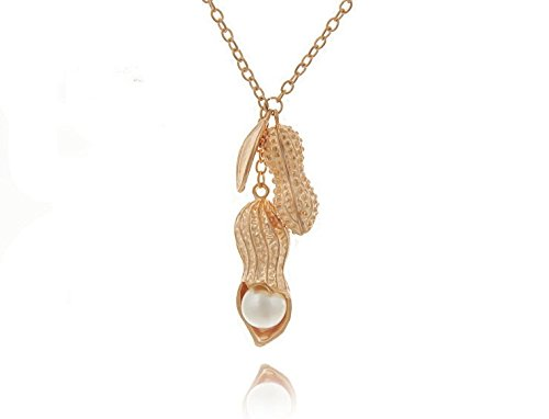 - 01722013 summer exquisite ornaments pearl necklace pendant double peanut pea pod length sweater chain