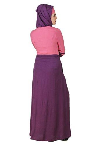 Pink AY Formal MyBatua Frauen Wear und Casual Abaya Burqa 500 amp; Purple Muslim an1T14dOq