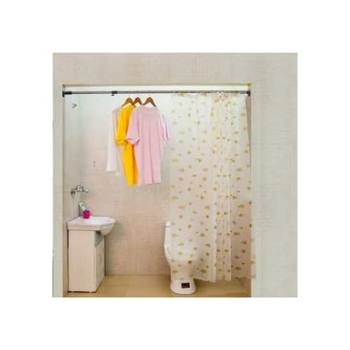 Low Cost Shower Curtain Rod Telescopic Rods Free Perforated