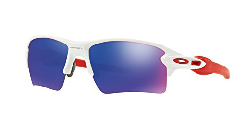 Oakley Men's Flak 2.0 XL OO9188-21 Non-Polarized Iridium Rectangular Sunglasses, Polished White, 59 mm