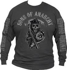 Sons of Anarchy Fear the Reaper Charcoal Long Sleeve T-shirt (Medium) (Sons Of Anarchy Shirt)