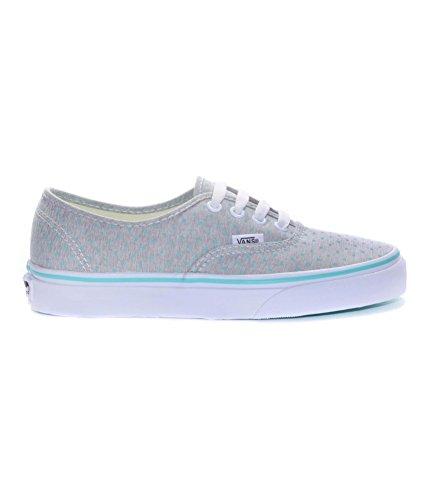 Vans Women's Authentic (Chambray Dots) Bermuda/True White Skateboarding Shoes (5 B(M) US Women/3.5 D(M) US Men) ()
