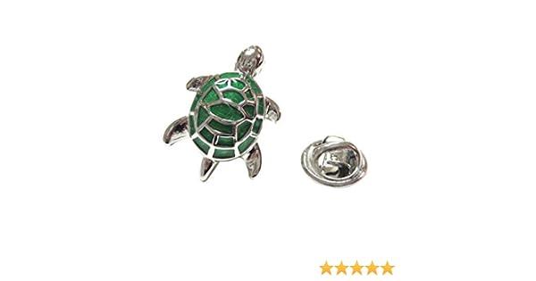 Metallic Green Turtle Tortoise Lapel Pin