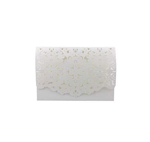 1pcs Elegant Luxury Wedding Invitation Card Paper Baby Shower Wedding Decoration Party Supplies,Only White Cover -