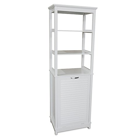 Summit Hamper Tower in White l Aesthetics and Impressive Storage Space in a Sensible Design