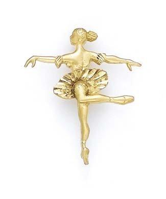 Large 14 carats JewelryWeb-Pendentif Danseuse étoile