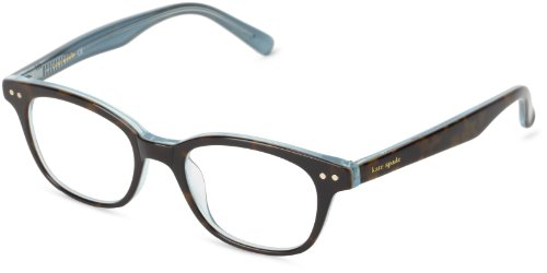 Kate Spade Women's Rebec Cat Eye Reading Glasses, Tortoise Aqua, 49 mm (1 x Magnification Strength)
