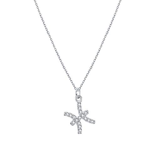 Fesciory Women 925 Sterling Silver CZ Constellation Necklace Zodiac Pendant Horoscope Astrology Chain Jewelry Gifts(Pisces)