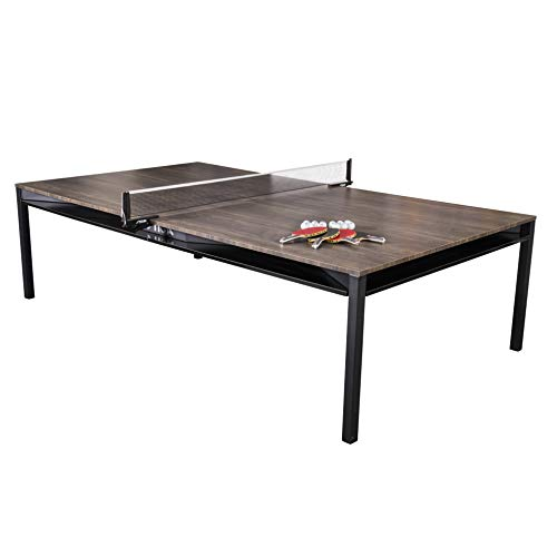 - STIGA Hybrid 3-in-1 Dining, Conference and Tennis Table Tennis Table - Black Base with Walnut Finished Top
