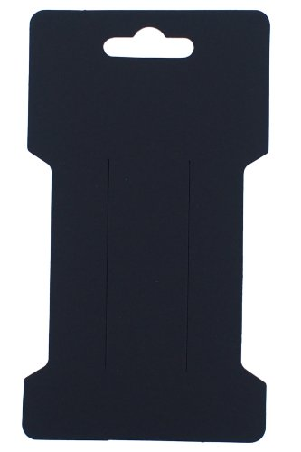 - Trimweaver 100-Piece Rectangular Hair Clip Display Cards, Satin Black