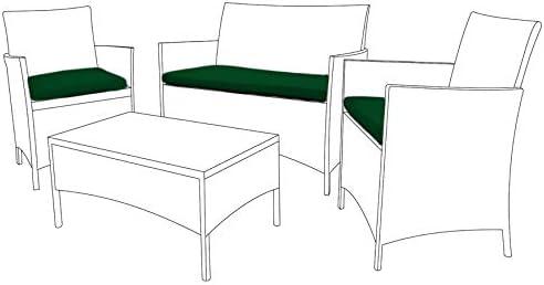 Verde cojines de repuesto para exterior Muebles de jardín (3