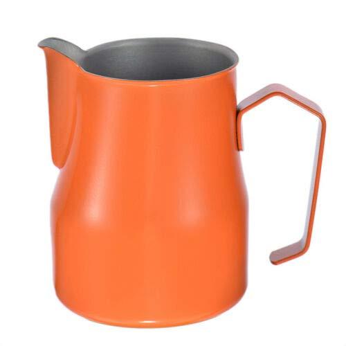 FidgetKute Motta Stainless Steel Milk Frothing Jug Coffee Pitcher Cup 12/19/126 Fluid Ounce Orange 500ml by FidgetKute