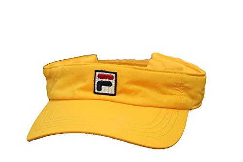 - Fila Unisex Heritage Nylon Adjustable Strap Visor, Curved Brim (Gold)