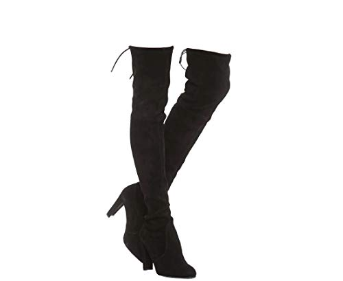 Stuart Weitzman Highland Black Suede Over-The-Knee Boot (9 N US)