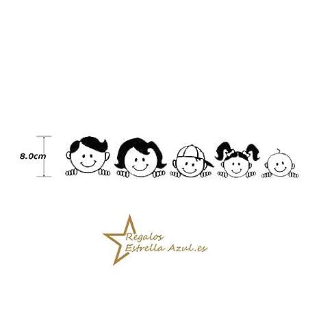 Blanco REGALOS ESTRELLA AZUL Pegatinas Coche Familia a Bordo Paquete de 5 Calcamon/ías Stickers para Coche