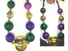 [Gigantic Large Jumbo Mardi Gras Ball Beads by HSC] (Jumbo Mardi Gras Beads)