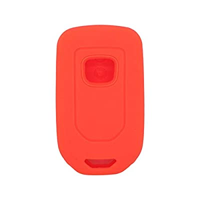 SEGADEN Silicone Cover Protector Case Skin Jacket fit for HONDA 3+1 Hold Button 4 Buttons Smart Remote Key Fob CV4210 Orange: Automotive