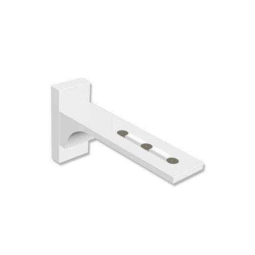 Interdeco Wandträger 6,5-11,5 cm Weiß aus Aluminium für Vorhangschienen, Variax Interdeco Wandträger 6