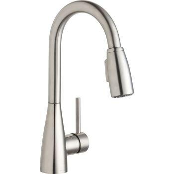 Elkay LKAV4032LS Avado Lustrous Steel Single Lever Pull-down Spray Bar Faucet - Elkay Bar Faucet