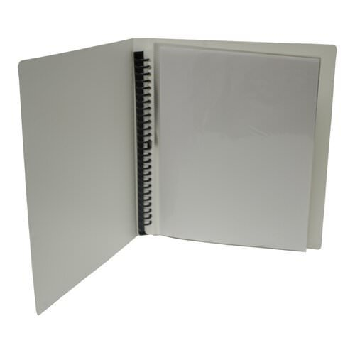 """JAM Paper Display Book - 8 1/2"""" x 11"""" - White - 12 pages per book - Sold Individually"""