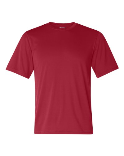 - Champion by Men's Essential Double Dry Tee_Scarlet_XL