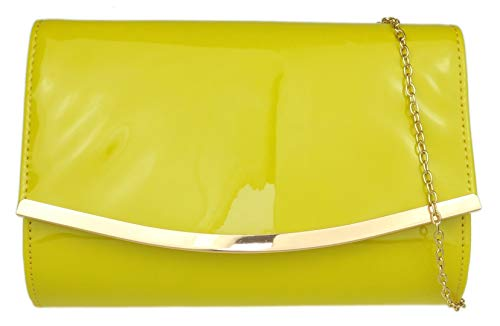 Clutch Frame Handbags Girly Mustard Bag 7ZAEvnqx