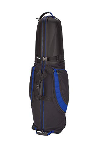 - PLAYEAGLE Golf Club Travel Cover Hard Top and Bottom Shockproof Golf Cart Bag with Wheels Portable Folding Golf Airplane Trolley Bag for Outdoor (Blue)