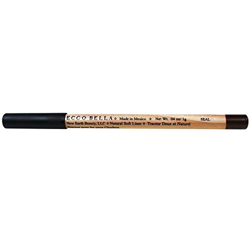 Ecco Bella FlowerColor Natural Soft Eyeliner Pencil, Seal .04 (0.04 Ounce Eyeliner Pencil)