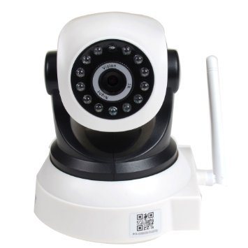 Night Bullet Ccd Cam (VideoSecu Baby Monitor IP Wireless Video Day Night Vision Security Camera with Pan Tilt Wi-Fi for iPhone, iPad, Android Phone or PC Remote View BKW)