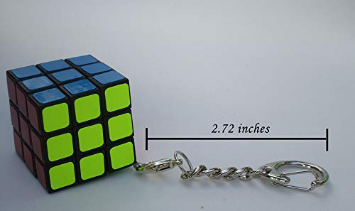 Aŭtuno Cubes a 3x3 Cube of Keychains Mini 3x3 Keychain, Turn Puzzles, The Clip Key Chain with Silver Colored Metals (six Color Stickers)