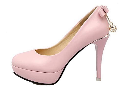 Unie Chaussures Agoolar Femme L Couleur Rond UqwEw4I