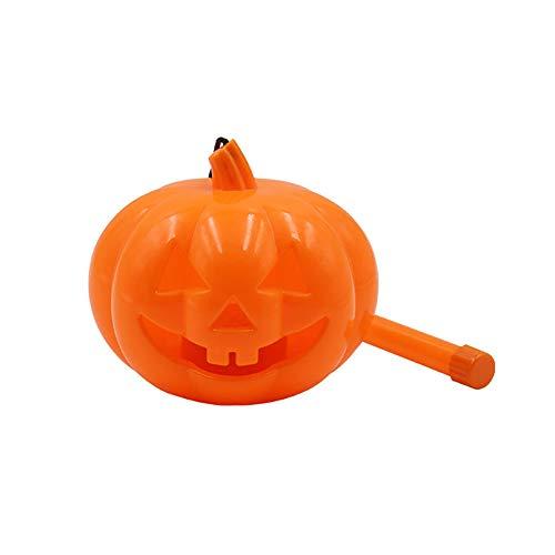 Connoworld Halloween Pumpkin LED Lamp Jack O Lantern Scream Flash Handheld Kids Light Toy 2#]()