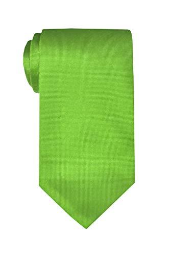 Remo Sartori Made in Italy Grey Extra Long XL Solid Color Necktie, 61