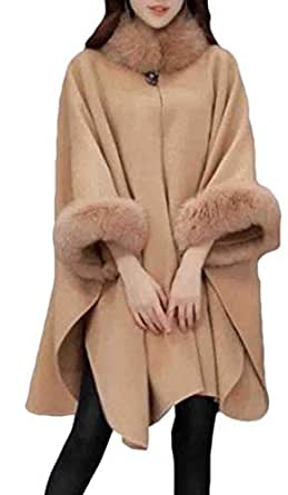 Amazon.com: UUYUK Women Winter Warm Faux Fur Collar Shawl