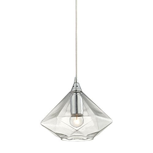 1-Light Modern Pendant in Polished Chrome by ELK Lighting