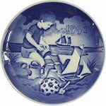 Grondahl Porcelain (1991 Bing & Grondahl Children's Day Plate --