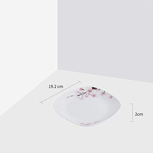 VEWEET 4-Piece Porcelain Dessert Plate Set, Durable Ivory White Bread 7-1/2 Inch Salad Plates ANNIE Series by VEWEET (Image #6)