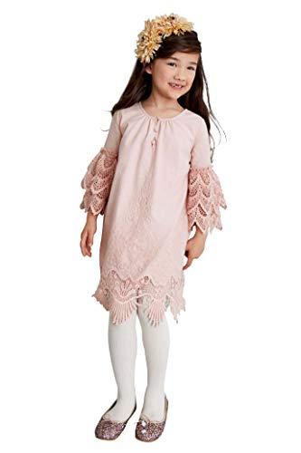 Chasing Fireflies Girls Embrace Lace Dress Mauve ()