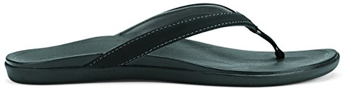 OluKai Ho'opio Slipper - Women's Onyx/Onyx - Green Mountain Onyx