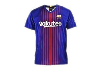 FCB Camiseta 1ª Equipación Replica Oficial FC BARCELONA 2017-2018 Dorsal SUÁREZ- Talla M