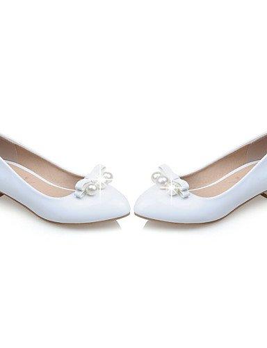 Flats Cuero De Al Talones 5 5 us8 se Negro Casual Pdx Zapatos Taln Uk6 Eu39 mujeres Patente rojo Black Toe Cn40 blanco qnAYntv8