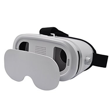 5th Gen Adjustable VR 3D Glasses for iPhone and Android 3D VR Glasses - White