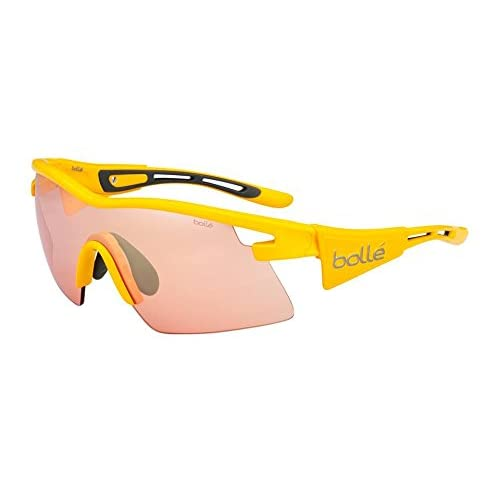 Bolle Vortex Sunglasses, Yellow TDF Frame, Rose Gunmetal Lens