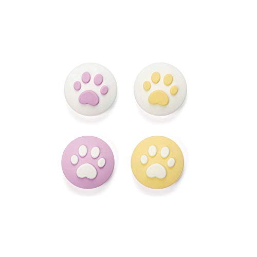 Geekshare 4Pcs Silicone Sakura Paw Joy Con Thumb Grip Set Joystick Caps Nintendo Switch Controller Cover Analog Thumb Stick Grips (Cat Claw 03)