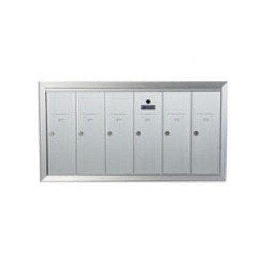 1250 Series Vertical Mailbox Unit Number of Compartments: 6 - Six, Color: Aluminum Anodized