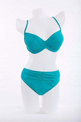 Colores de Europa, las señoras traje de baño, tamaño de los senos sólido sistema del bikiní Green