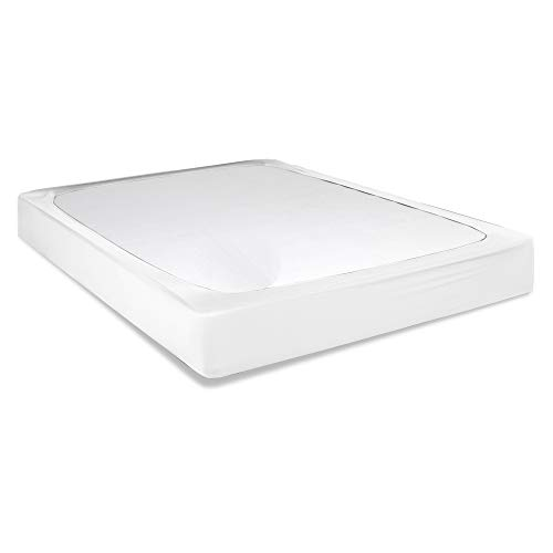 Leggett & Platt Sleep Plush + White Fabric Box Spring Cover, ()