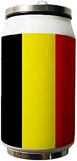 Okoukiu drapeau de la Belgique double Thermos en acier inoxydable Bouteille d'eau, 280ml